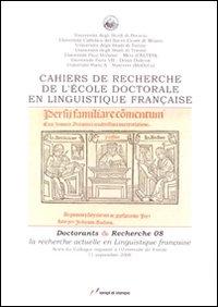 Cahiers de recherche de l'École doctorale en linguistique