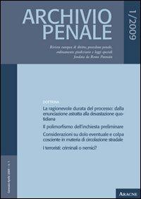 Archivio penale (2009). 1