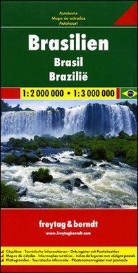 Brasile 1:2.000.000 - 1:3.000.000. Carta stradale. Ediz. multilingue