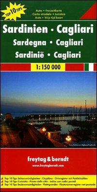 Sardegna, Cagliari 1:150.000. Carta stradale e turistica. Ediz. multilingue