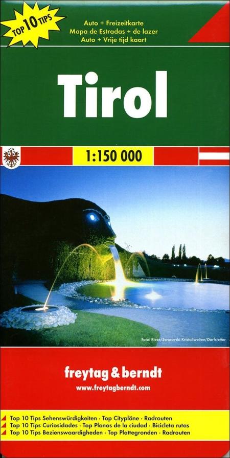 Tirolo 1:150.000. Carta stradale e turistica. Ediz. multilingue