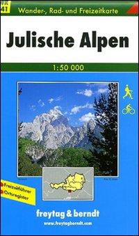 Alpi Giulie 1:50.000. Carta turistica per ciclisti ed escursionisti. Ediz. italiana e tedesca