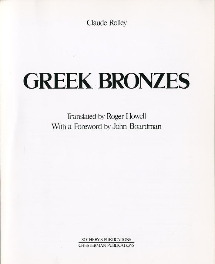 Greek Bronzes