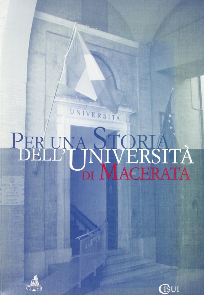 Per una storia dell'Università di Macerata