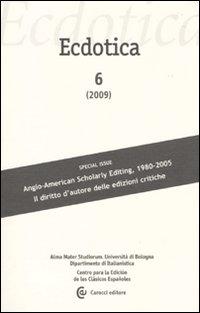 Ecdotica (2009). Vol. 6