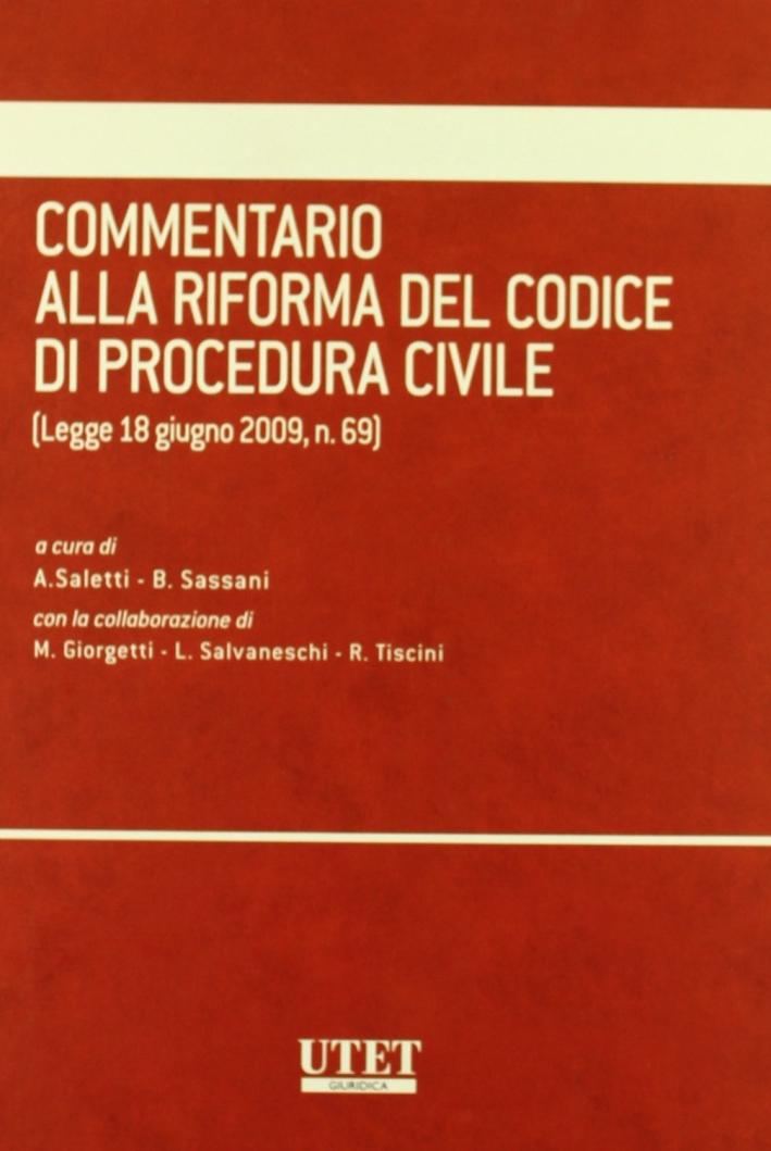 Commentario alla riforma del codice di procedura civile