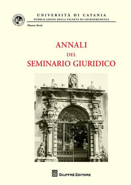 Annali del seminario giuridico (2007-2008). Vol. 9