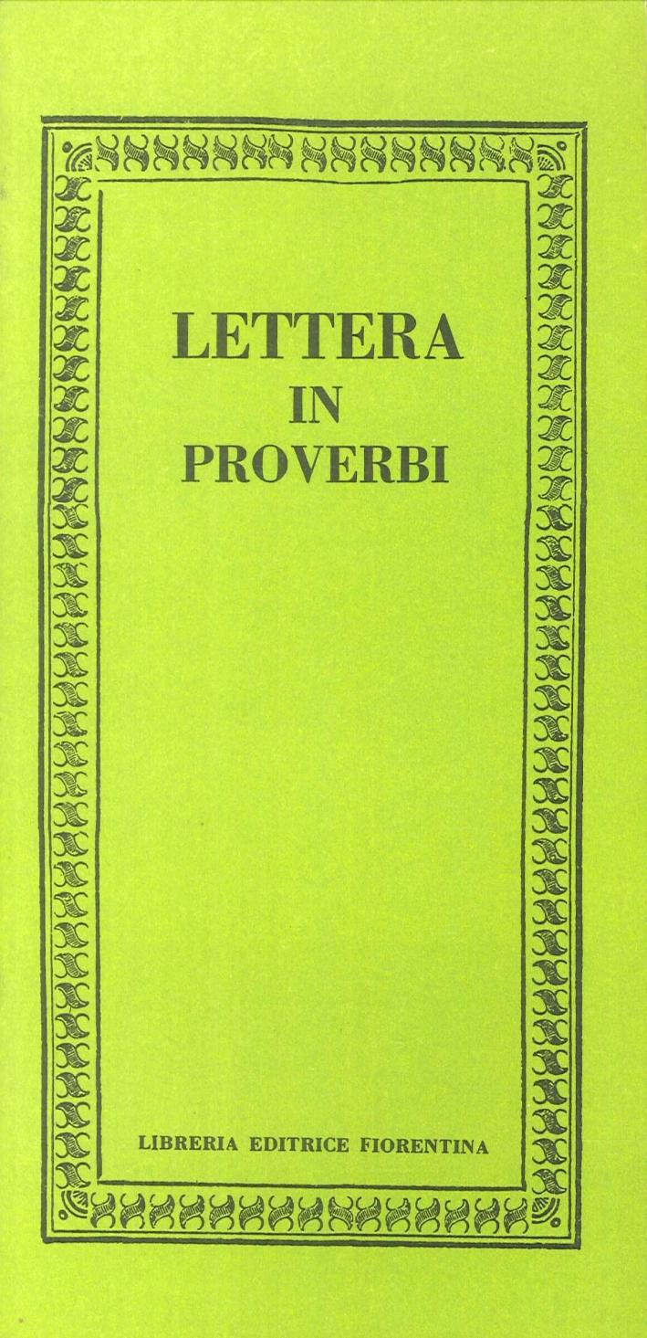 Lettera in proverbi.