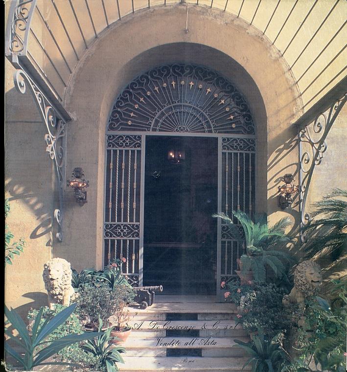 Eccezionale vendita all'asta dell'arredamento antico di nota famiglia romana. 1988