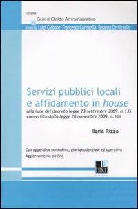 Servizi pubblici locali e affidamento in House