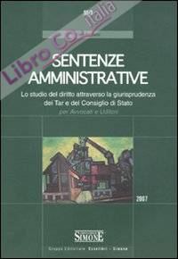 Sentenze civili 2007-Sentenze penali 2007-Sentenze amministrative 2007