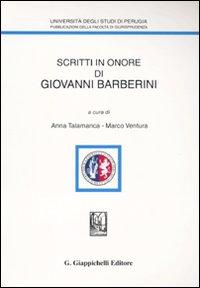 Scritti in onore di Giovanni Barberini