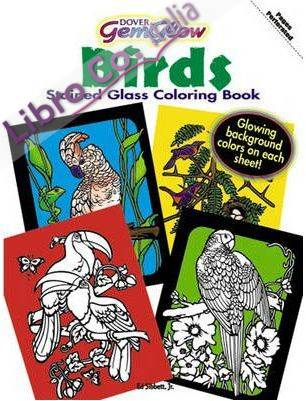 Gemglow Stained Glass Coloring Book. Birds.