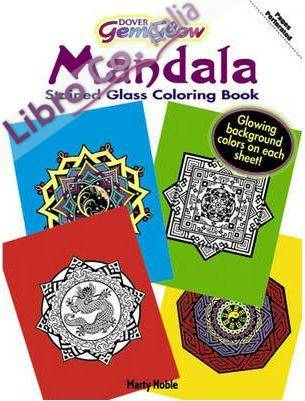 Gemglow Stained Glass Coloring Book. Mandala.