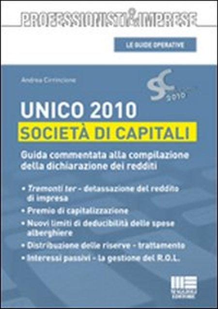 Unico 2010. Società di capitali