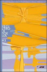 Registro di Poesia 3. Premio di Letteratura