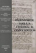 Memorie della chiesa e convento della SS. Annunziata di Firenze di Padre Filippo Maria Tozzi dei Servi di Maria (1765)