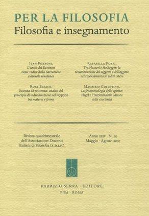 Per la filosofia. Filosofia e insegnamento. 78. 1. 2010