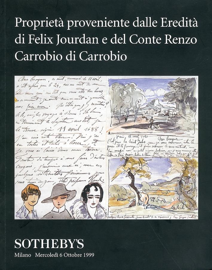 Proprietà proveniente dalle Eredità di Felix Jourdan e del Conte Renzo Carrobio di Carrobbio