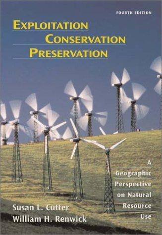 Exploitation Conservation Preservation