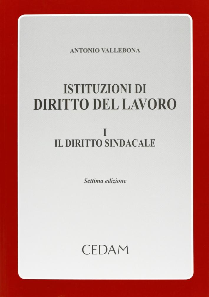 Istituzioni di diritto del lavoro. Vol. 1: Il diritto sindacale