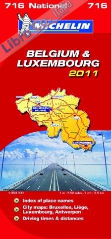 Belgium & Luxembourg National Map 2011.