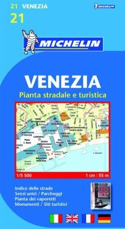 Venezia. Pianta stradale e turistica. 1:5.500. Ediz. multilingue