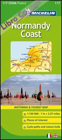 Normandy Coast 1:150.000. Ediz. inglese e francese