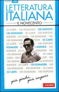 Letteratura italiana. Il Novecento. 50 carte