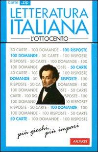 Letteratura italiana. L'Ottocento. 50 carte.