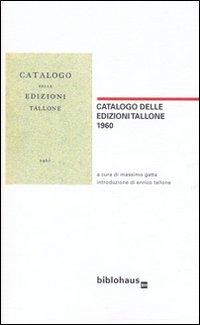 Catalogo delle edizioni Tallone 1960