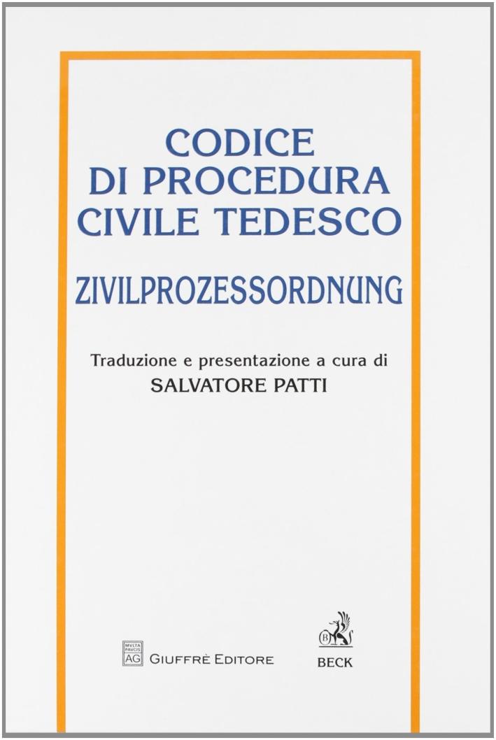 Codice di procedura civile tedesco. Zivilprozessordnung