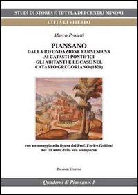 Piansano. Dalla fondazione farnesiana ai catasti pontifici, gli abitanti e le case nel catasto gregoriano (1829)