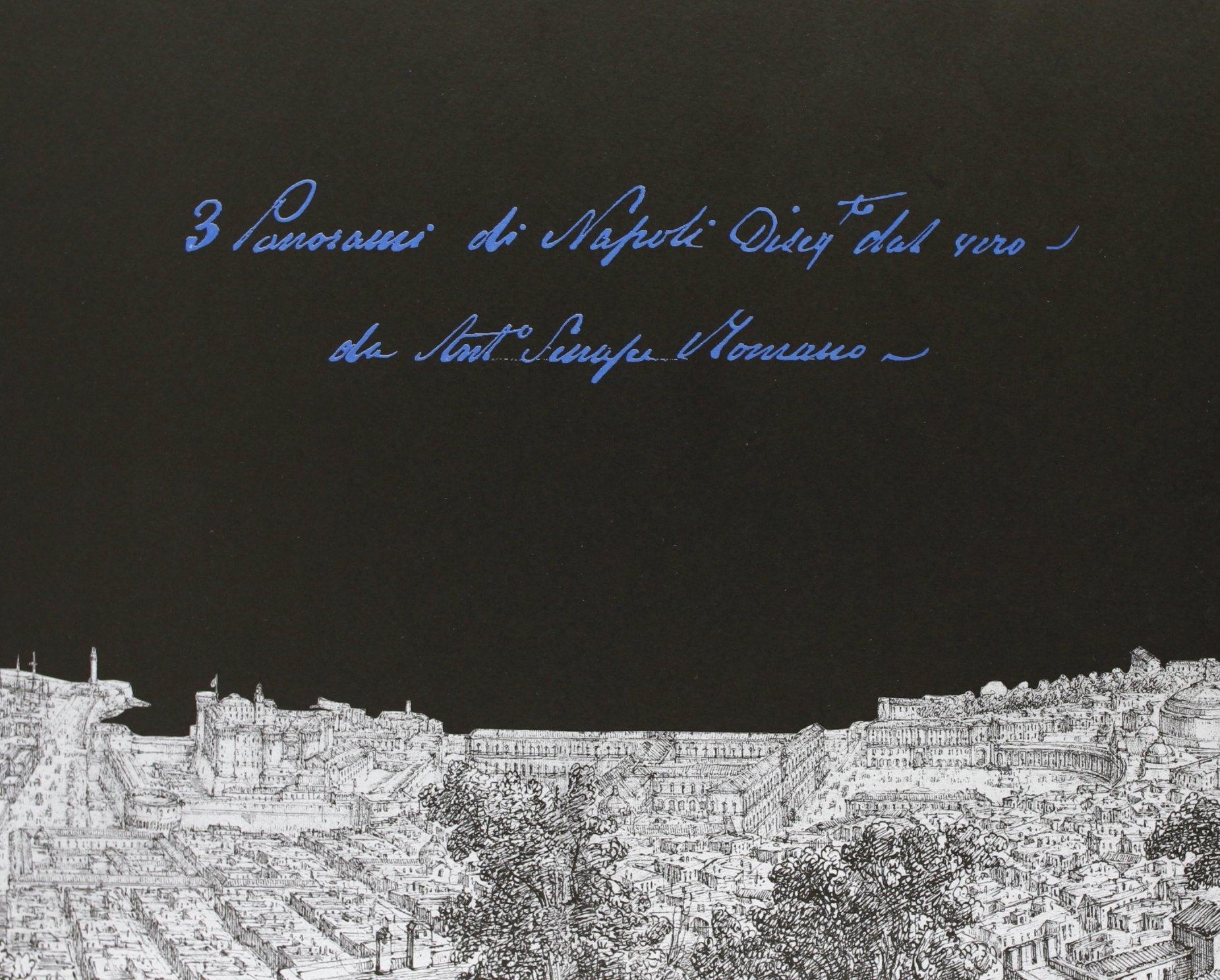 3 Panorami di Napoli disegnati dal vero da Antonio Senape Romano (cartella di stampe)