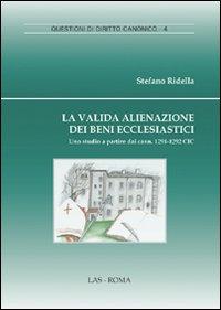 La valida alienazione dei beni ecclesiastici. Uno studio a partire daicann. 1291-1292 CIC