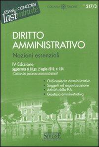 Diritto amministrativo. Nozioni essenziali