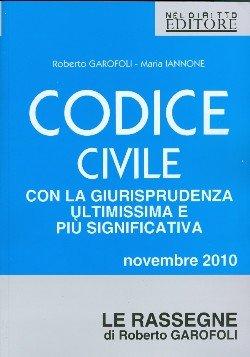 Codice civile. Ultimissima rassegna giurisprudenziale. Novembre 2016