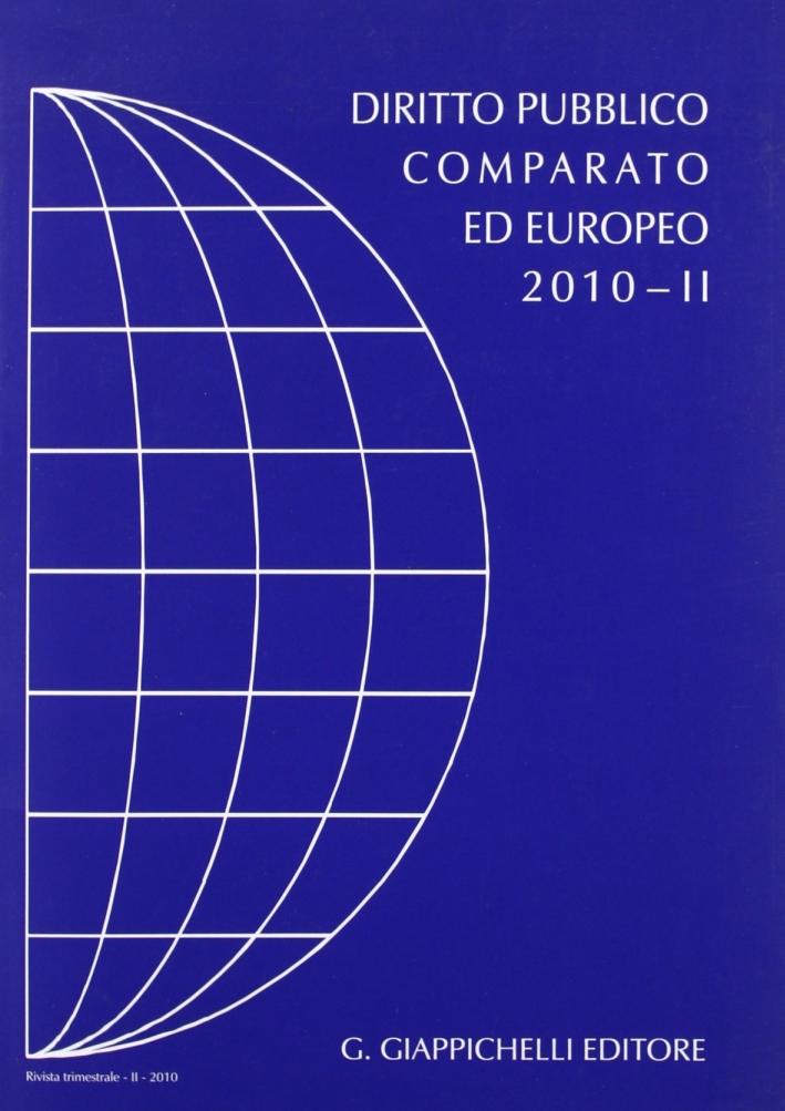 Rivista di Diritto Pubblico Comparato ed Europeo. 2010/2