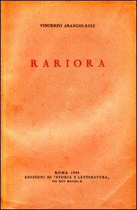 Rariora. Studio di diritto romano