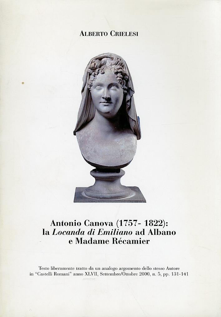 Antonio Canova (1757-1822). La Locanda di Emiliano ad Albano e Madame Récamier
