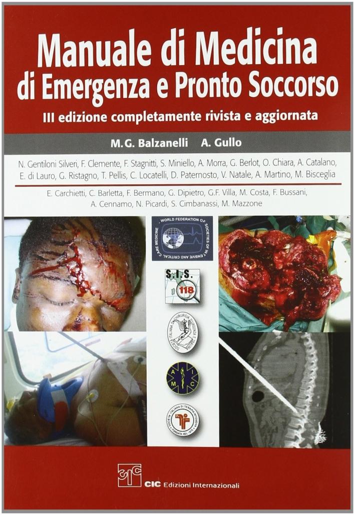 Manuale di medicina di emergenza e di pronto soccorso.