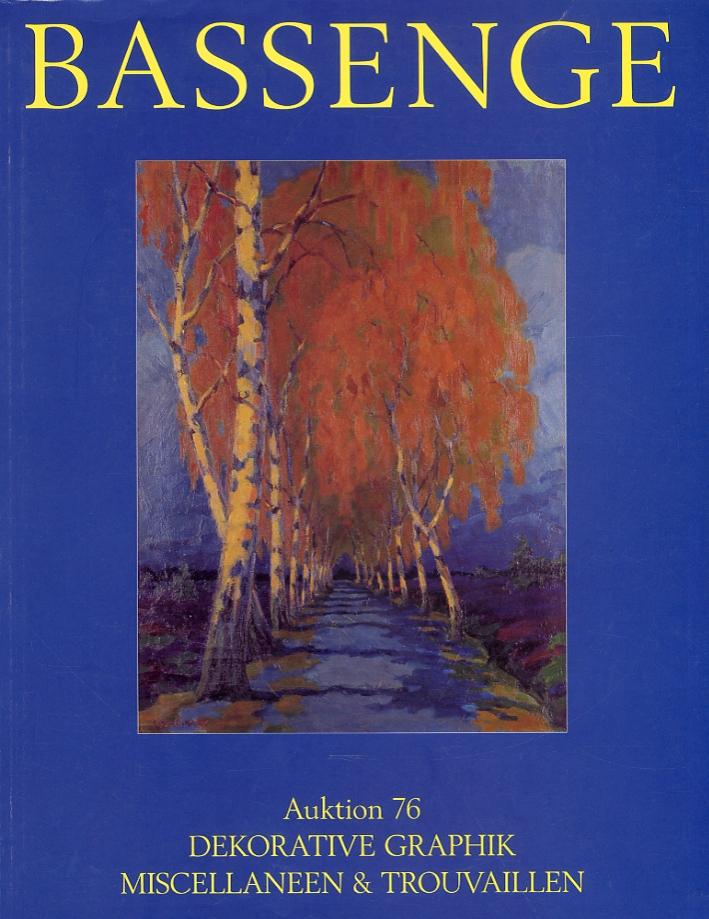 Kunst- und Buchauktionen Auktion 76. Dekorative Graphik. Miscellaneen & Trouvaillen 1. und 2. Dezember 2000