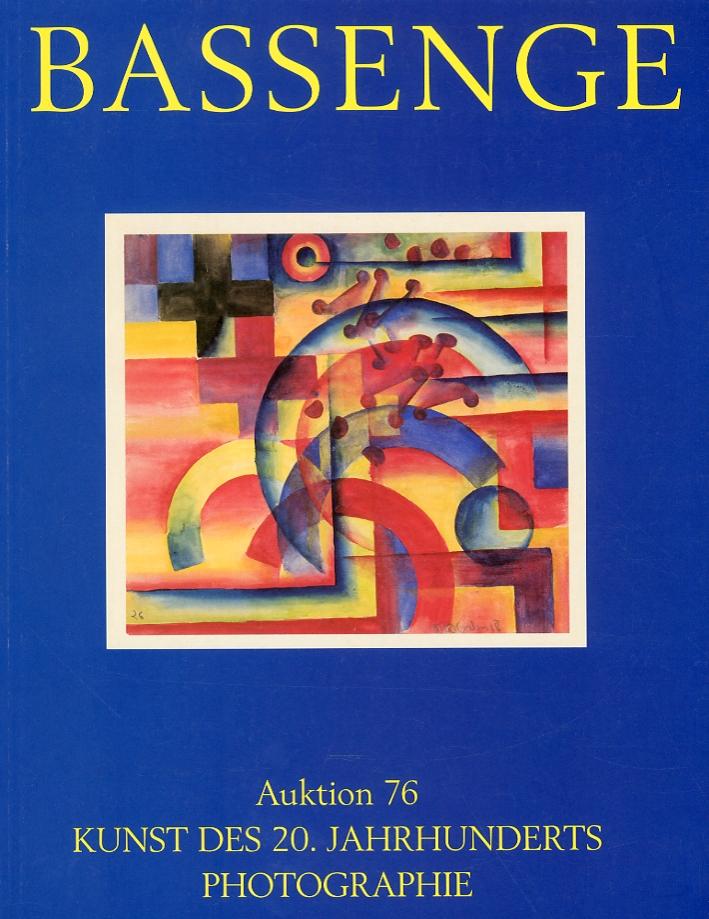 Bassenge. Auktion 76. Kunst des Photographie. Photobucher