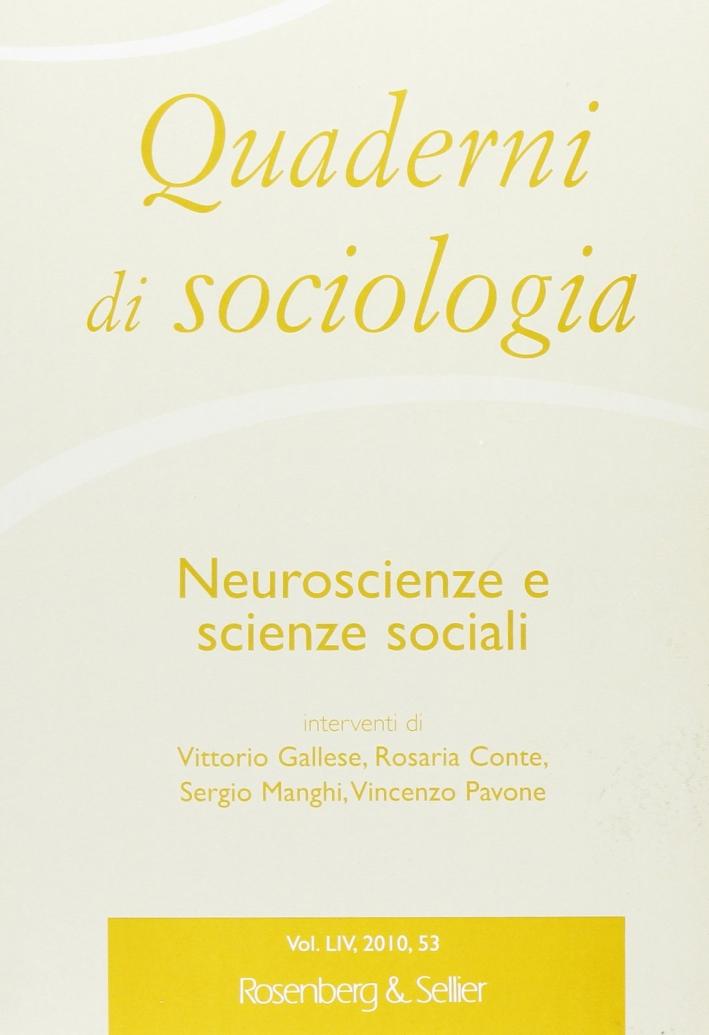 Quaderni di sociologia. Vol. 53