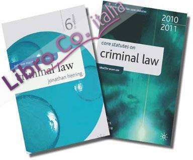 Criminal Law and Core Statutes on Criminal Law
