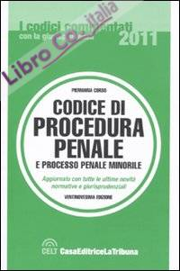 Codice di procedura penale e processo penale minorile