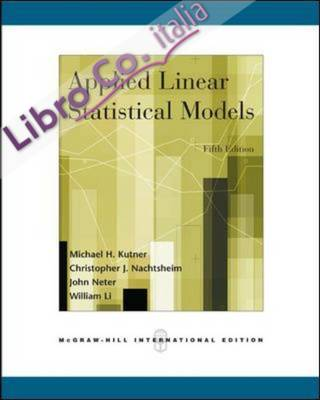 Applied Linear Statistical Models.