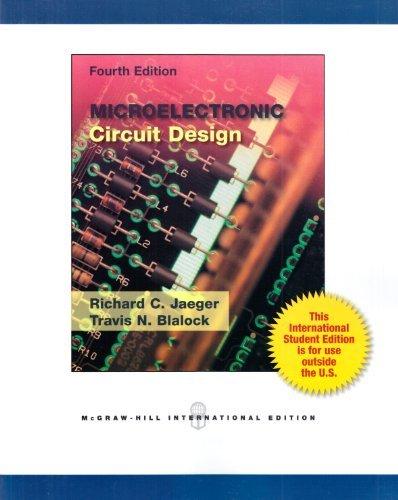 Microelectronic Circuit Design.