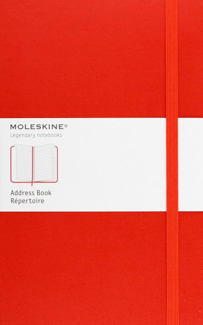 Moleskine Address Book Large, Red, Hard