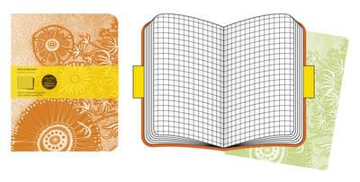 Moleskine Cover Art Flower Fantasy Squared Journal.